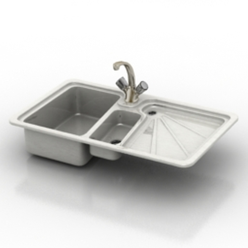 Kitchen Sink Model: Kitchen Sink Model_Download Free Vector,3d Model,Icon