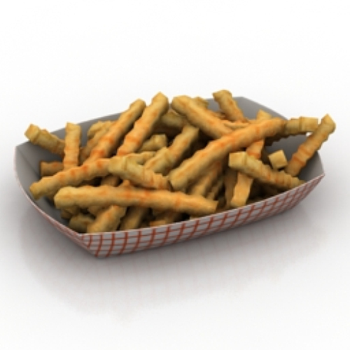 delicious fries model_Download free vector,3d model,Icon