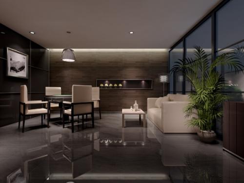 Modern And Comfortable Living Room Mahjong Table 3d Model