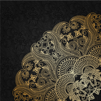 Delicate gold pattern background vector material