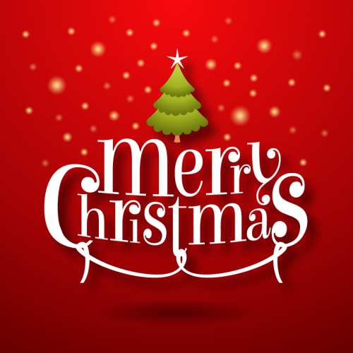 Merry Christmas Wordart Vector Material Download Free Vector