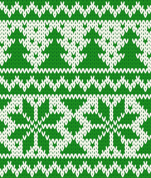 Green Christmas Knitting Pattern Background Vector Materialdownload