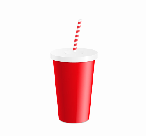 Cup With Straw Design Vector Material Download Free Vector