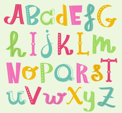 Creative Design Color Alphabet Vector Material Download Free