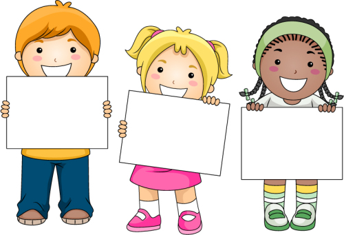 3 for a blank cardboard child vector material