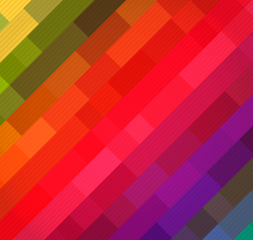 Rainbow colored box background vector material
