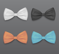 Four colored bow tie Vector material