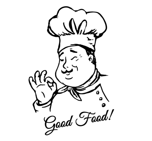 handpainted male chef vector materialdownload free