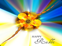 colorful raksha bandhan background vector